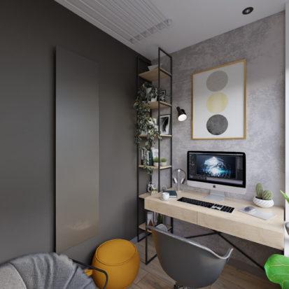 Дизайн трехкомнатной квартиры Киев кабинет