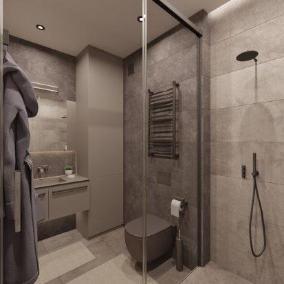 Дизайн трехкомнатной квартиры Киев санузел