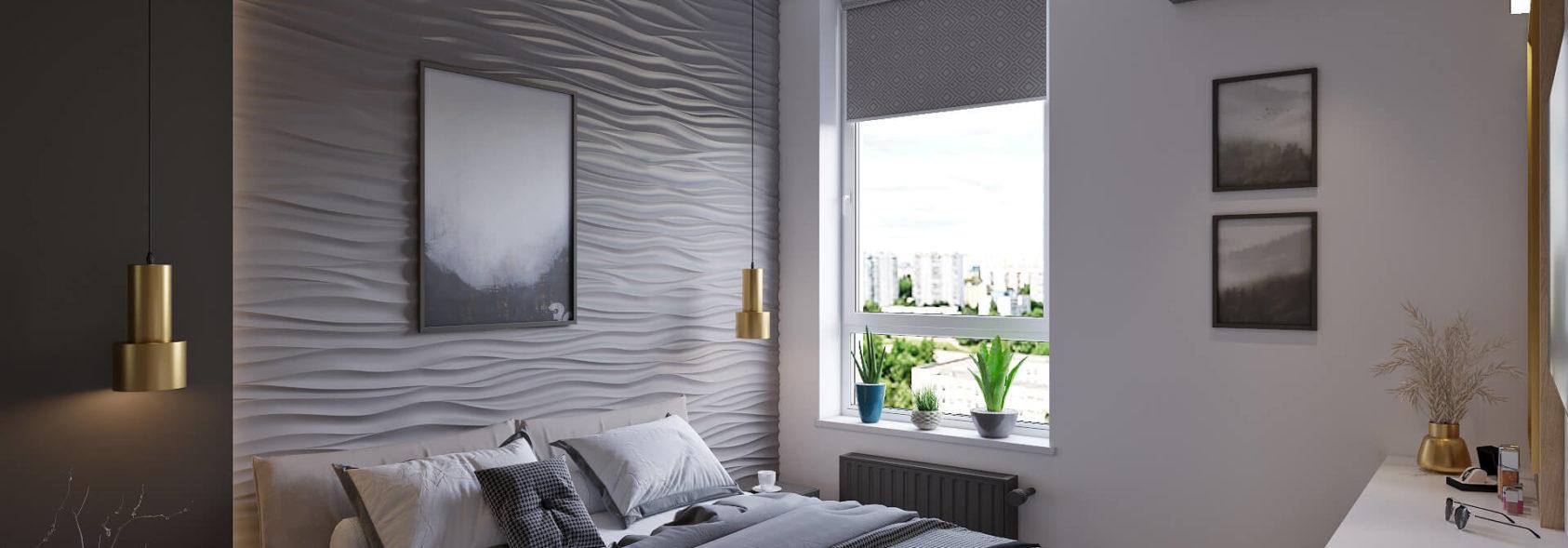 Дизайн трехкомнатной квартиры Киев спальня