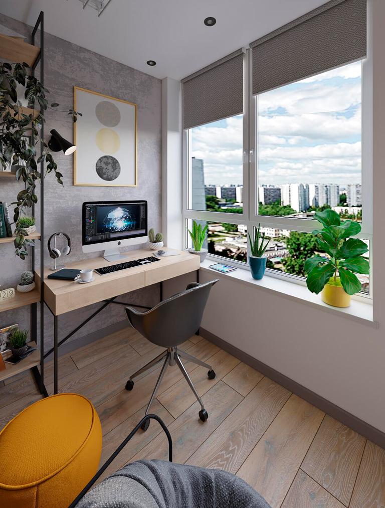 дизайн офиса квартира на балконе Киев