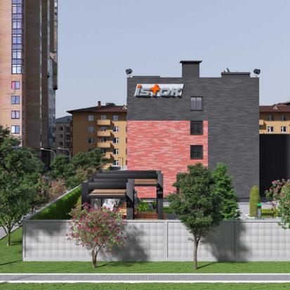 Дизайн жэкстерьера офисного здания Запорожье