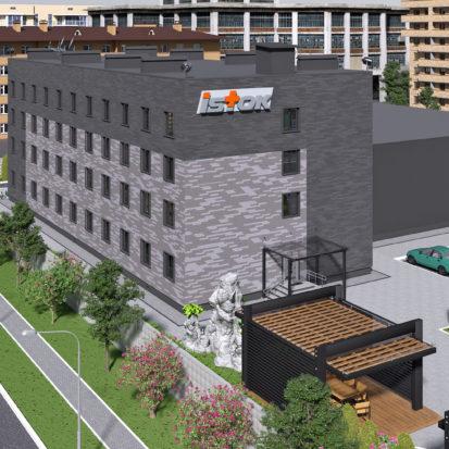Дизайн фасадов офисано производственного комплекса