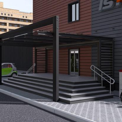 Дизайн экстерьера офисного здания входная группа