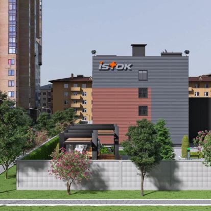 Дизайн экстерьера офисного здания