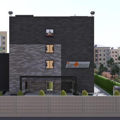 Дизайн экстерьера офисно-производственного комплекса