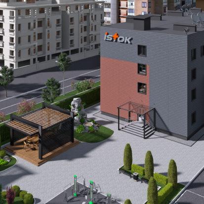 Дизайн экстерьера офисных помещений