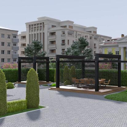 Реконструкция здания благоустройство участка