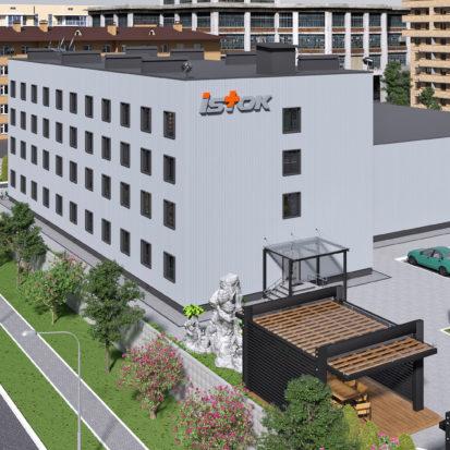 Реконструкция и дизайн экстерьера офисного комплекса