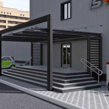 Реконструкция офисного здания входная группа