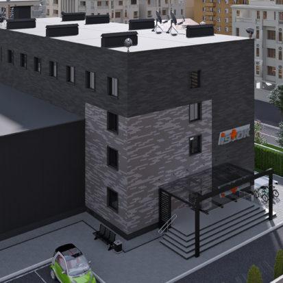 Экстерьер офисно-производственного здания
