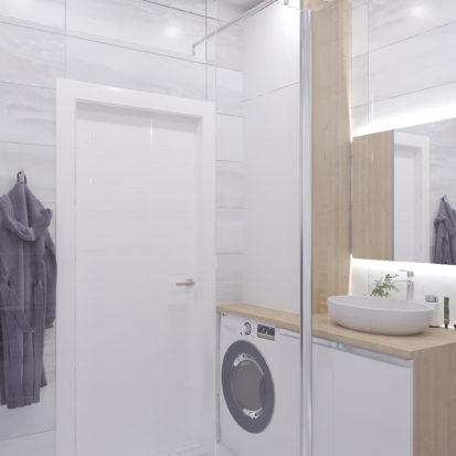Ванная дизайн 3х комнатной квартиры Запорожье