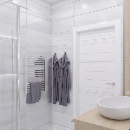 Дизайн ванной трехкомнатная квартира Запорожье