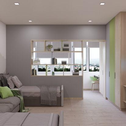 Дизайн детской 3х комнатная квартира Запорожье