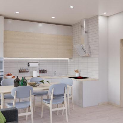 Дизайн кухни 3х комнатная квартира Запорожье