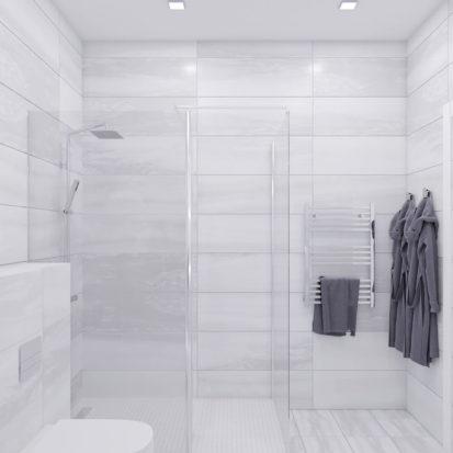 Дизайн проект ванной трехкомнатная квартира Запорожье