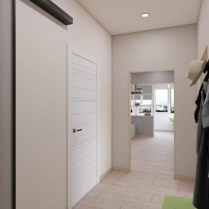 Дизайн проект прихожей 3х комнатная квартира Запорожье