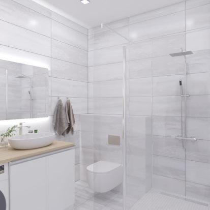 Дизайн сан узла в 3х комнатной квартире Запорожье