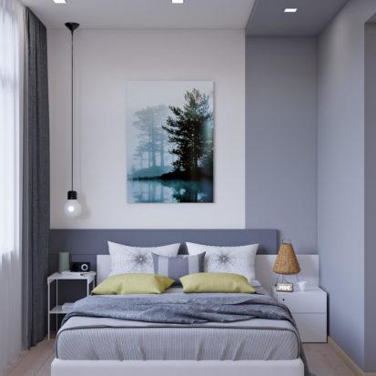 Дизайн спальни трехкомнатная квартира Запорожье