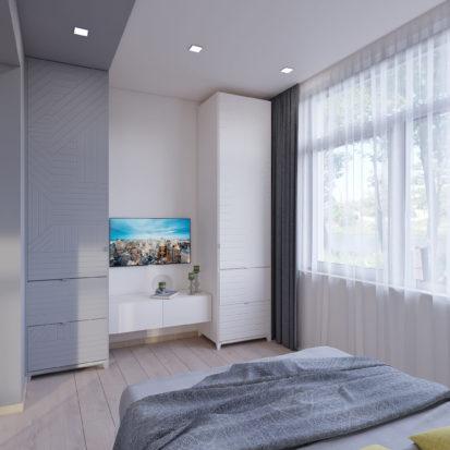 Дизайн спальни 3х комнатная квартира запорожье
