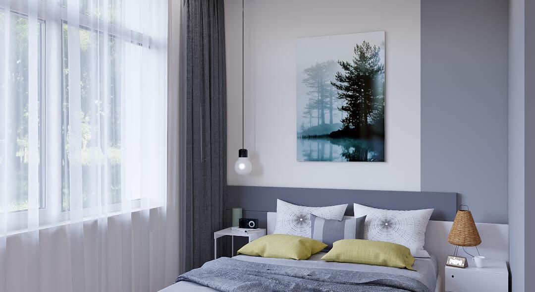 Дизайн 3х комнатной квартиры Запорожье Спальня