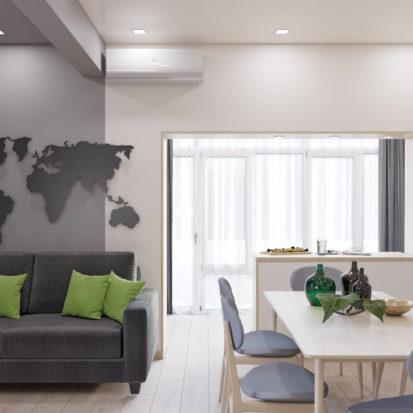 Дизайн 3х комнатной квартиры Запорожье гостиная