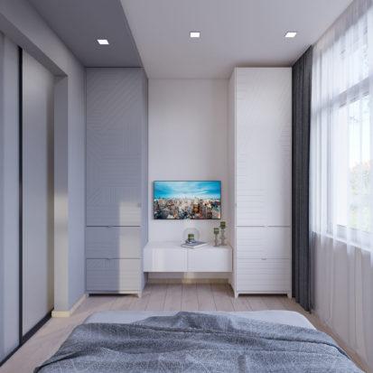 Дизайн 3х комнатной квартиры Запорожье интерьер спальни