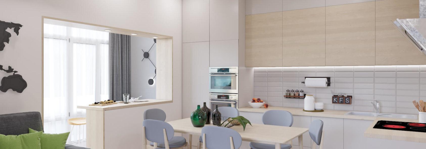 Дизайн 3х комнатной квартиры Запорожье кухня