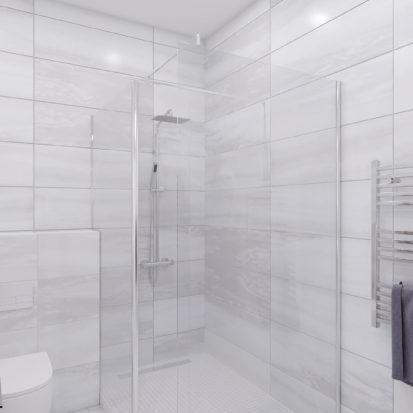 Проект ванной 3х комнатная квартира Запорожье