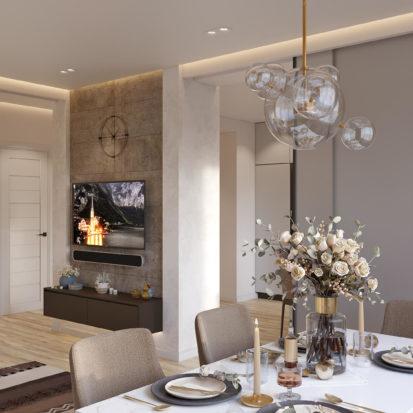 Гостиная комната дизайн в Киеве