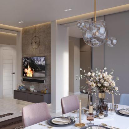 Гостинная комната дизайн в Киеве