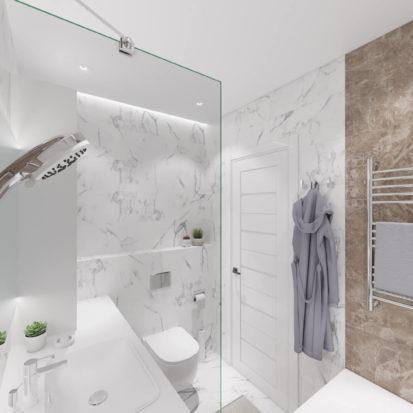 Дизайн ванной в четырехкомнатной квартире Киев