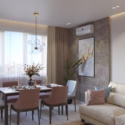 Дизайн гостинной Киев