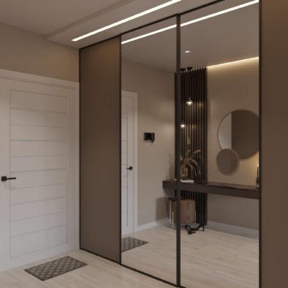 Дизайн гостиной-прихожей в 4х комнатной квартире Киев