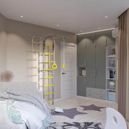 Дизайн детской Киев 4х комнатная квартира