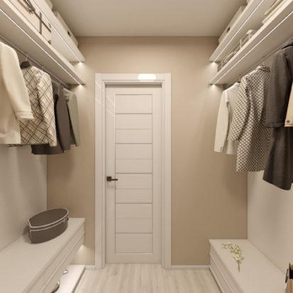 Дизайн интерьера гардеробной комнаты Киев