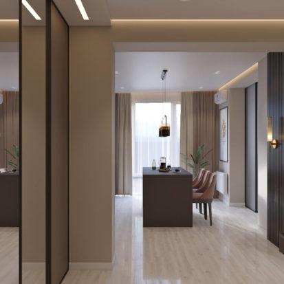 Дизайн интерьера гостиной прихожей Киев