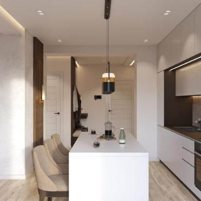 Дизайн интерьера кухни в квартире Киев