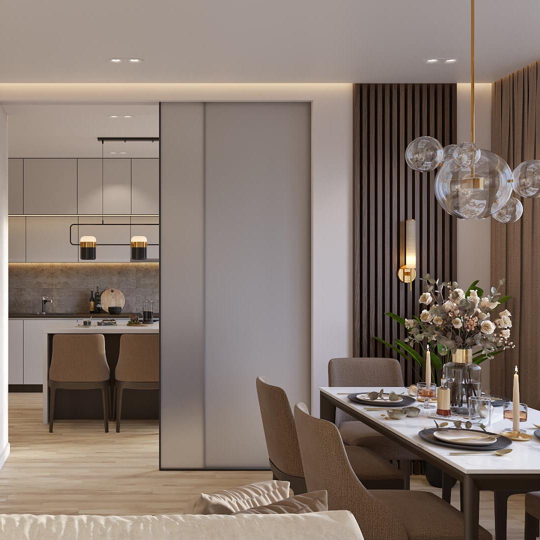 Дизайн интерьера 4х комнатной квартиры Киев