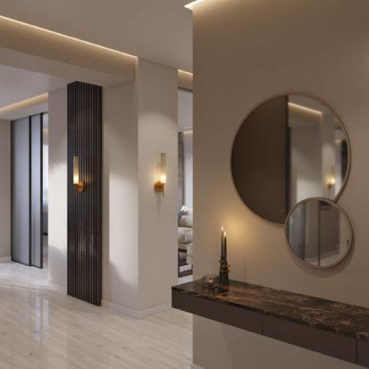Дизайн квартиры Киев гостиная-прихожая