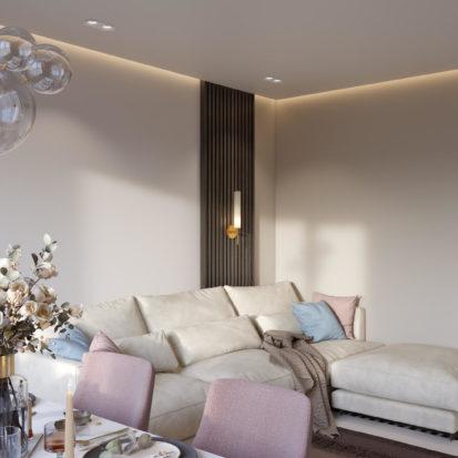 Дизайн квартиры Киев гостинная