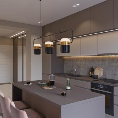 Дизайн квартиры Киев кухня-студия
