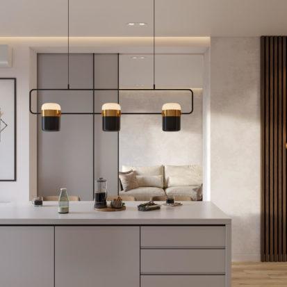 Дизайн кухни в четырехкомнатной квартире Киев
