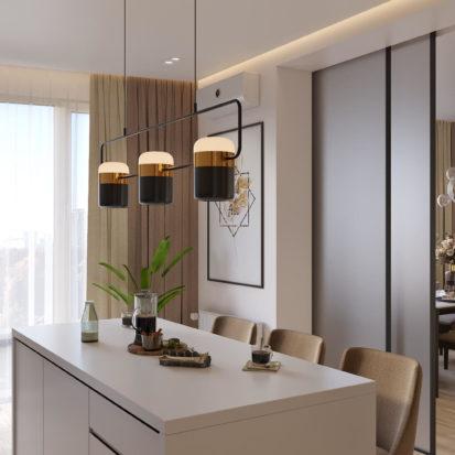 Дизайн кухни в 4х комнатной квартире Киев