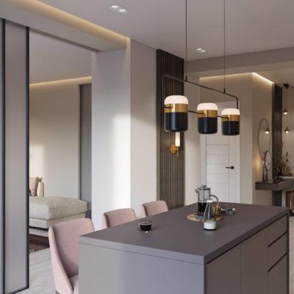 Дизайн кухни-студии Киев