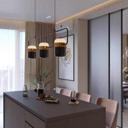 Дизайн кухни-студии в 4х комнатной квартире Киев