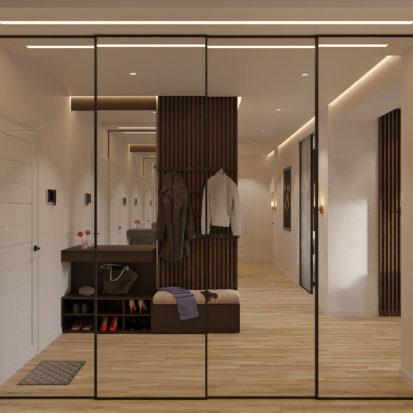 Дизайн прихожей в четырехкомнатной квартире Киев