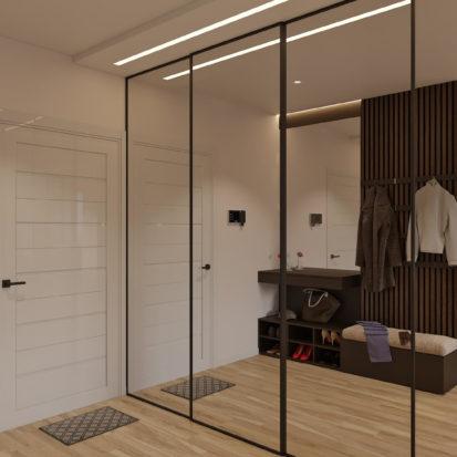 Дизайн прихожей в 4х комнатной квартире Киев