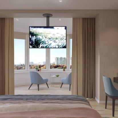 Дизайн спальни Киев 4х комнатная квартира