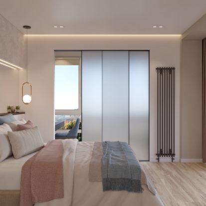 Дизайн спальни в 4х комнатной квартире Киев