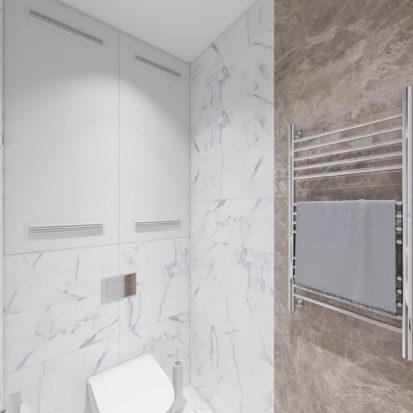 Дизайн туалета в 4х комнатной квартире Киев